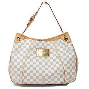 Auth Louis Vuitton Galliera PM Damier Azur HoboBag